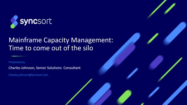 Mainframe Capacity Management: Time to come out of the Silo