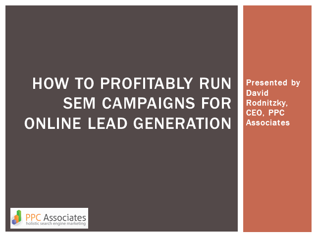 How to Profitably Run SEM Campaigns for Online Lead Generation