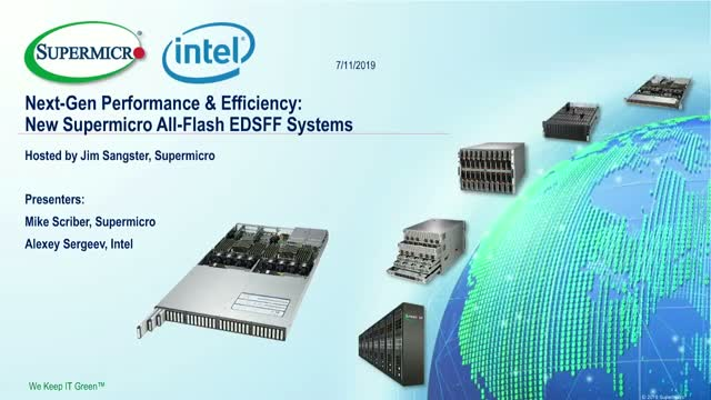 Next-Gen Performance & Efficiency: New Supermicro All-Flash EDSFF Systems