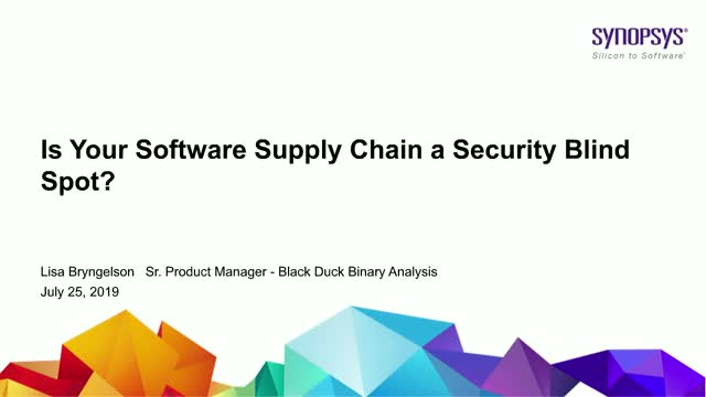 Is Your Software Supply Chain a Security Blind Spot?