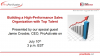 Building a High-Performance Sales Organization with Top Talent