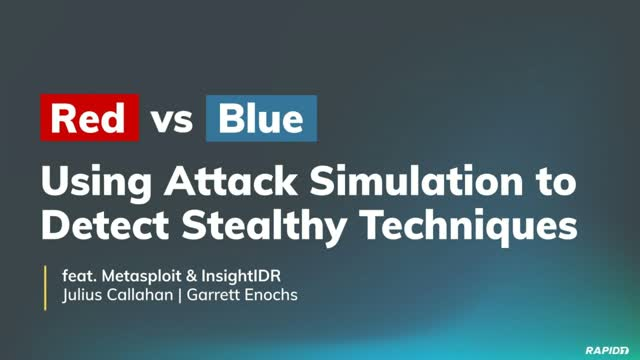 Red vs. Blue: Using Attack Simulation to Detect Stealthy Techniques