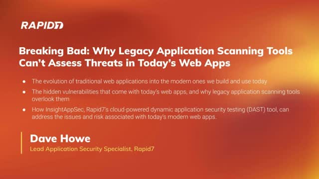 Breaking Bad: Why Legacy AppSec Tools Can't Assess Threats in Today's Web Apps
