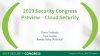 2019 Security Congress Preview – Cloud Security