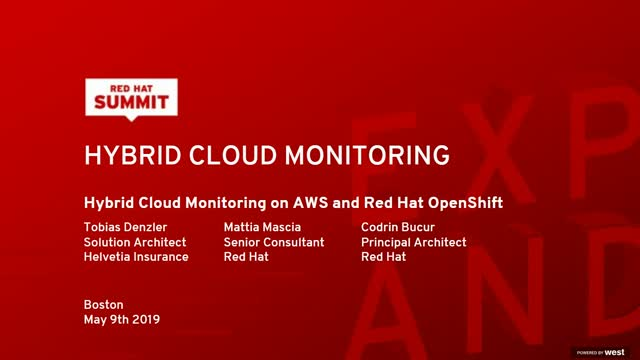 Hybrid Cloud Monitoring on AWS and Red Hat OpenShift