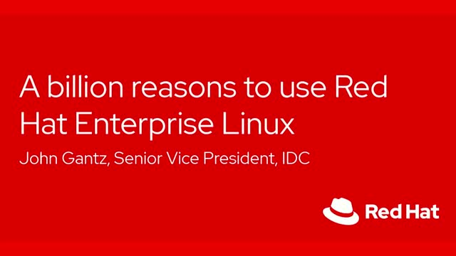 A billion reasons to use Red Hat Enterprise Linux