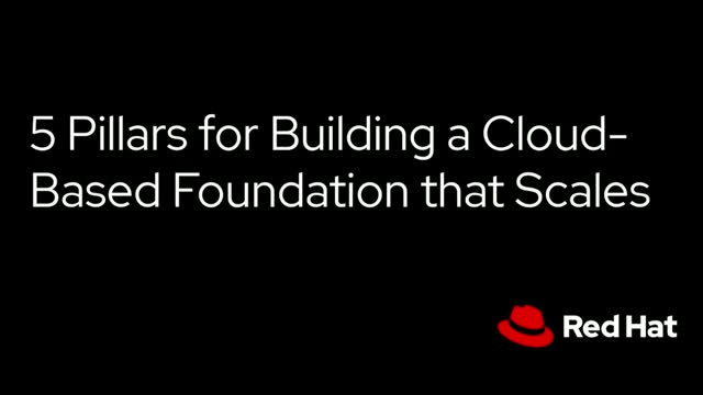 5 Pillars for Building a Cloud-Based Foundation that Scales