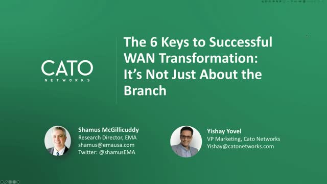 How to Transform Your Wide Area Network with SD-WAN