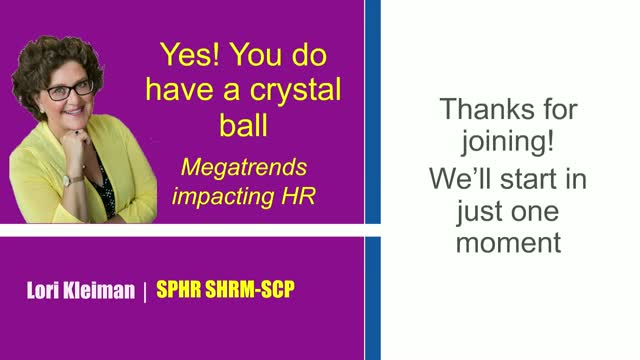 Yes you do have a crystal ball