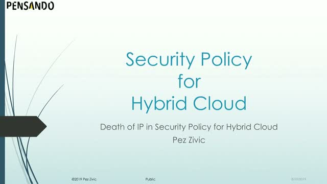 Hybrid Cloud Security Policy Considerations