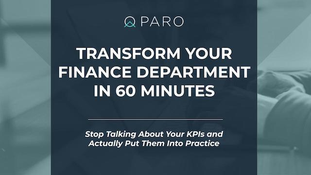 Transform your finance department in 60 minutes