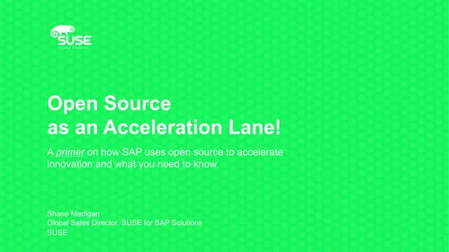 How SAP Uses Open Source to Accelerate Innovation
