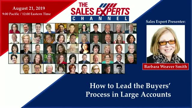 How to Lead the Buyers' Process in Large Accounts