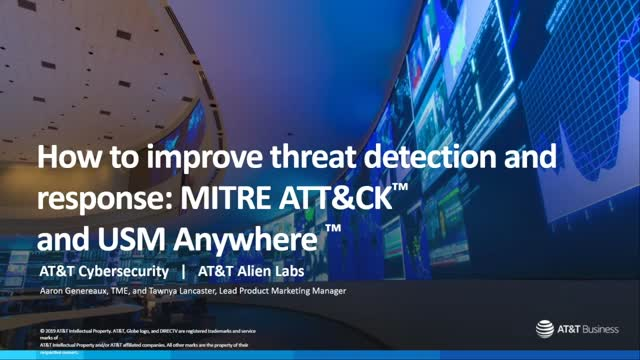 How to improve threat detection and response with the MITRE ATT&CK™ framework
