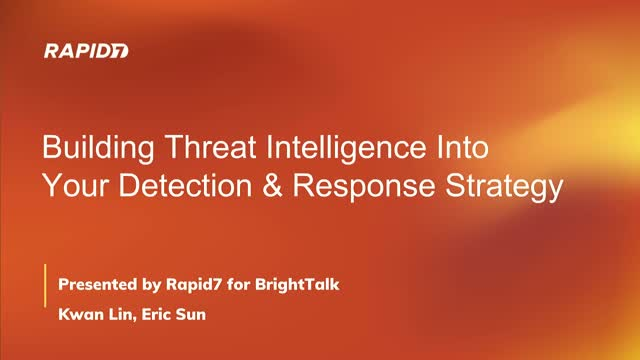 How to Build Threat Intelligence into an Incident Detection & Response Strategy