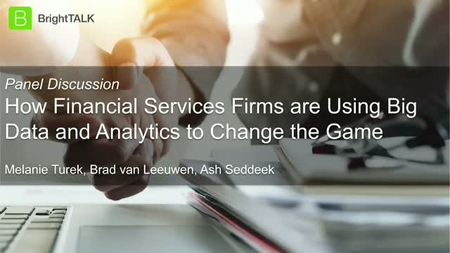 How Financial Services are using Big Data and Analytics to Change the Game
