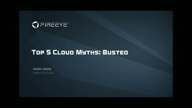 Recorded live at the AWS Public Sector Summit: Top 5 Cloud Myths Busted