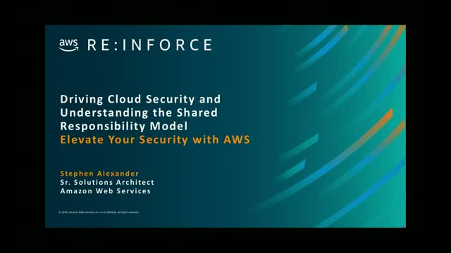 AWS Public Sector Summit: Cloud Security and the Shared Responsibility Model