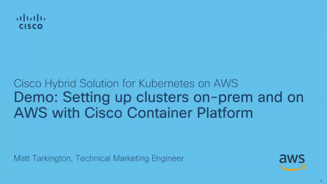 Using Cisco Container Platform to Deploy Kubernetes Clusters