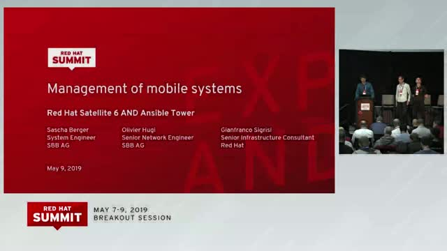 Mgmt of remote & mobile systems with Red Hat Satellite 6 & Red Hat Ansible Tower