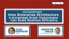 How Enterprise Architecture & Knowledge Graph Technologies Can Scale Efficiency