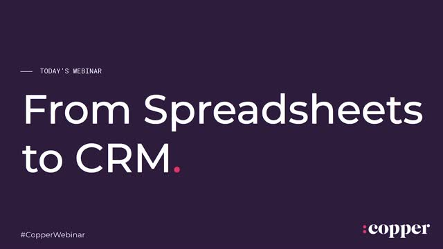 Contact Management | Moving from Spreadsheets to CRM