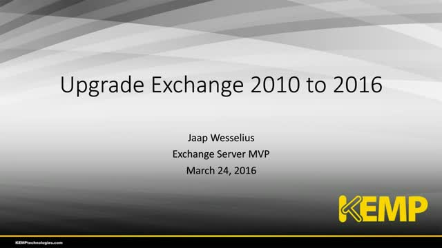 Migrating Microsoft Exchange 2010 to Exchange 2016 - MVP Jaap Wesselius [How-to]