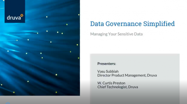 Data Governance Simplified - Managing Your Sensitive Data