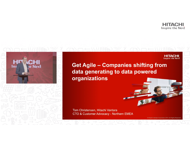 Get Agile - Companies shifting from data generating to data powered organization