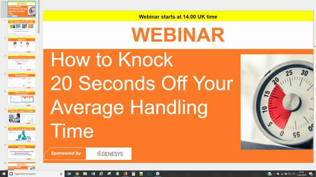 How to Knock 20 Seconds Off Your Average Handling Time