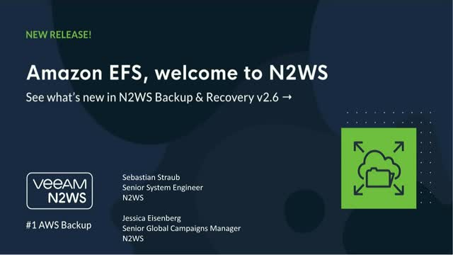 NEW N2WS Backup & Recovery v2.6 Overview & Demo - AMS