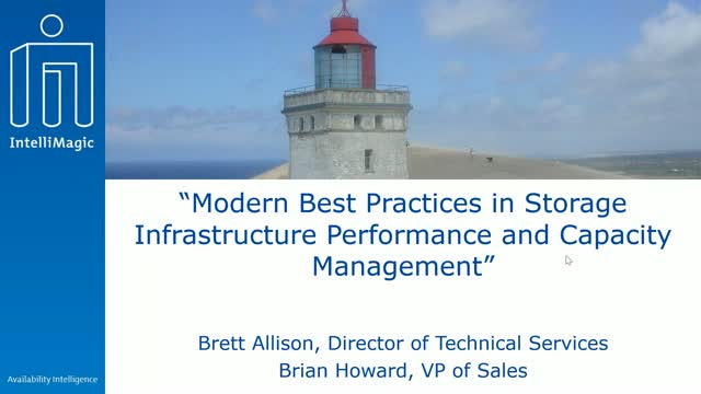Modern Best Practices in Storage Infrastructure Performance and Capacity Managem