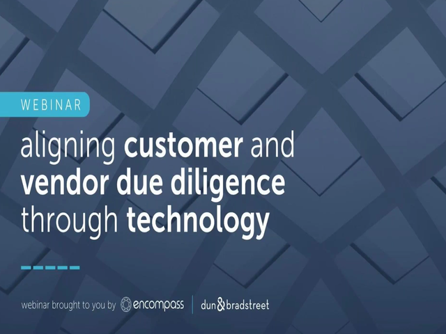 Aligning customer and vendor due diligence through technology