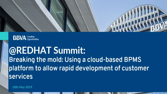 Using cloud-based BPMS platform for rapid development of customer services