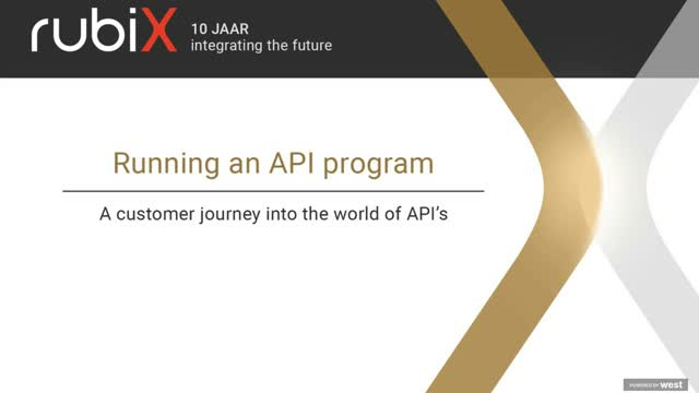 Running an API program. A customer journey into the world of API's