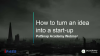 Innovation Strategy: How to start a start-up