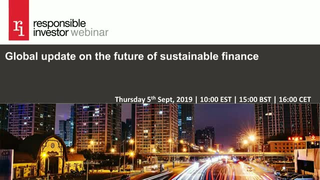 Global update on the future of sustainable finance