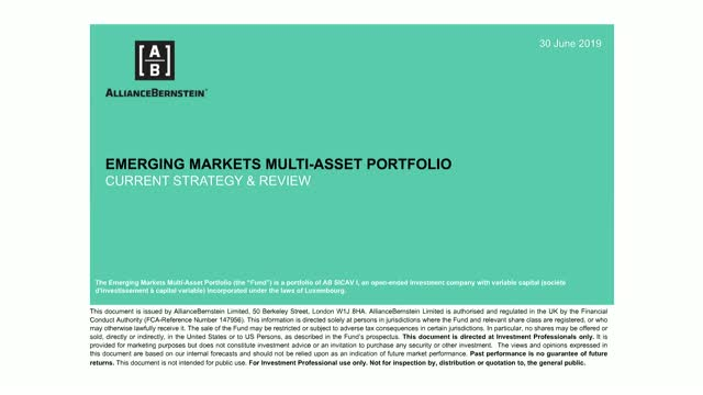 AB Emerging Markets Multi-Asset Portfolio: 2Q19 Portfolio Review and Update
