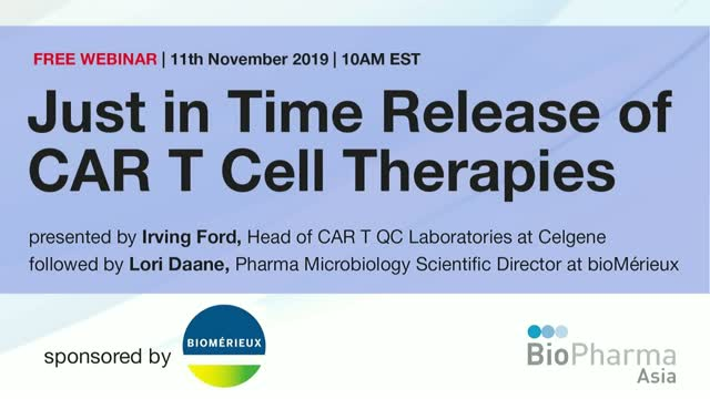 Just in Time Release of CAR T Cell Therapies