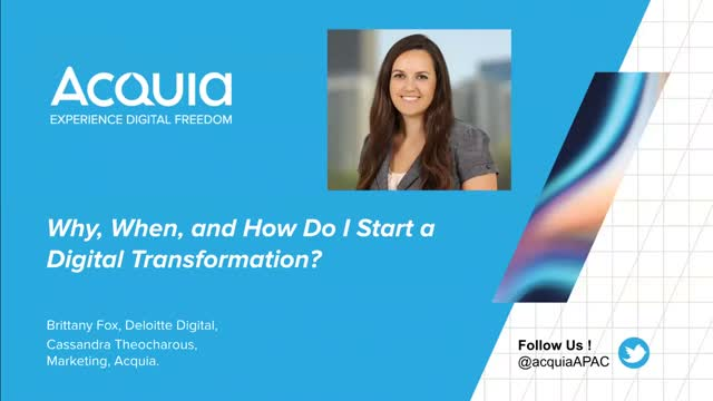 Why, When and How do I Start a Digital Transformation?