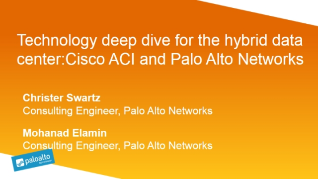 Technology Deep Dive for the Hybrid DC: Arista MSS and Palo Alto Networks