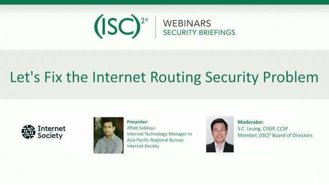 Let's Fix the Internet Routing Security Problem