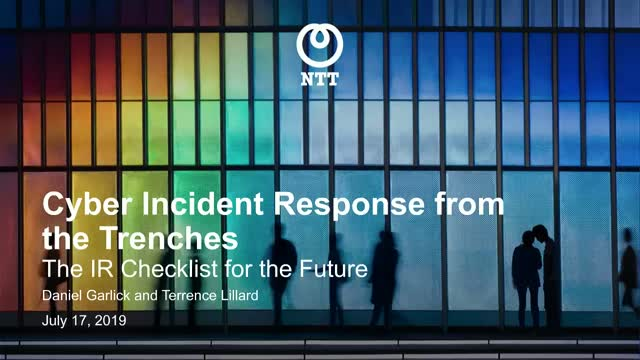 Cyber Incident Response from the Trenches: The IR checklist for the future