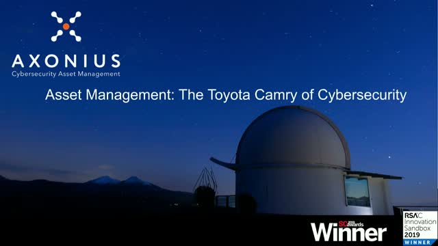 Asset Management: The Toyota Camry of Cybersecurity