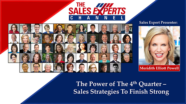 The Power of The 4th Quarter – Sales Strategies To Finish Strong