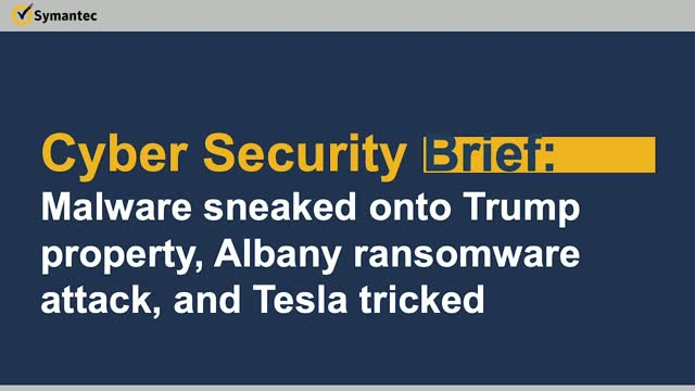 Cyber Security Brief: Malware @ Mar-a-Lago, Albany ransomware & Tesla tricked