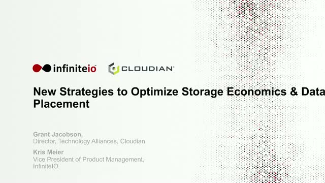 New Strategies to Optimize Your Storage Economics and Data Placement