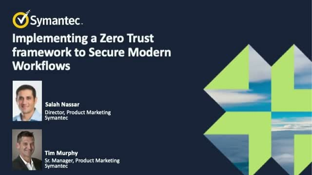 Implementing a Zero Trust Framework to Secure Modern Workflows