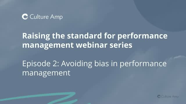Avoiding bias in performance management