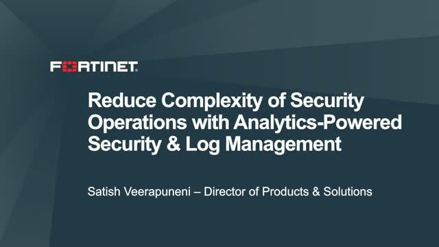 Reduce the Complexity of Security Operations with Analytics-Powered Security & L